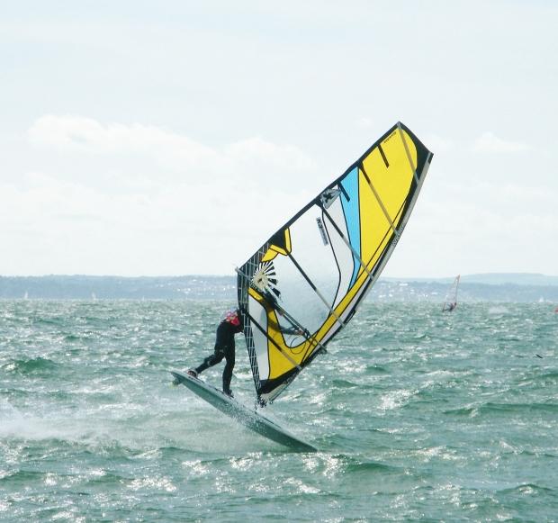 Tez Plavenieks windsurfing Hayling Island