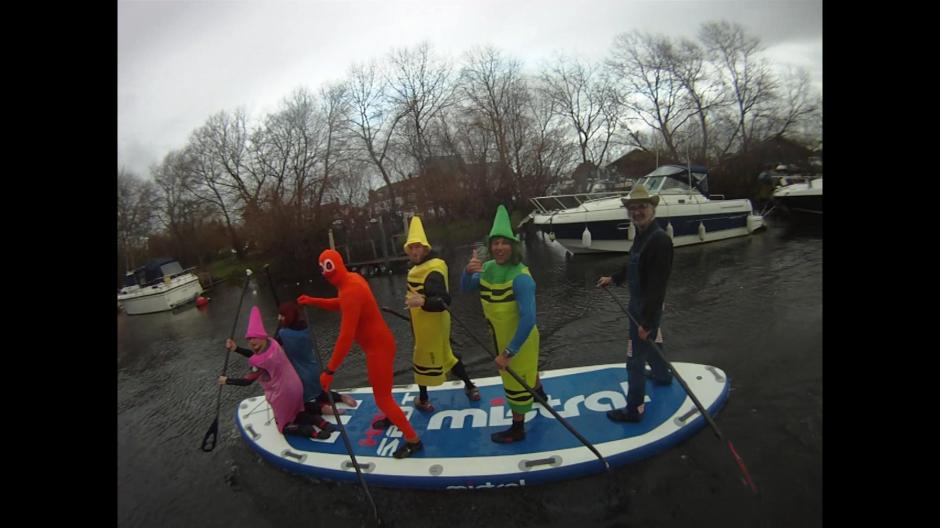Club Christmas party paddle