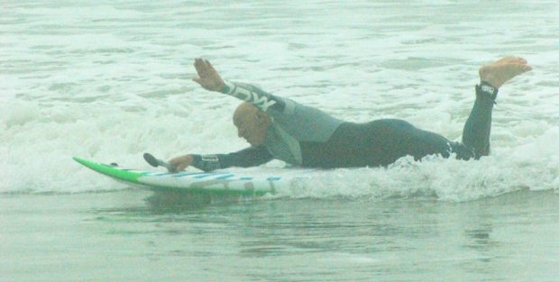 Lee Rolfe SUPing Bracklesham