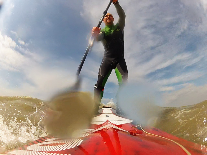 Cave Active downwind paddle