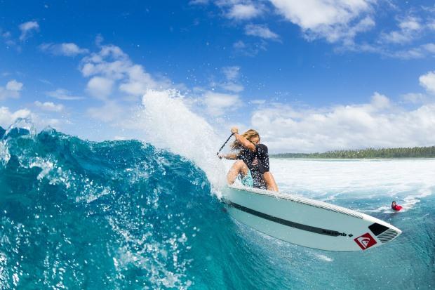 Bernd Roediger SUP cut back Marshall Islands