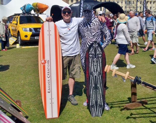 Gary Evans and Simon Jeffrey land paddle UK