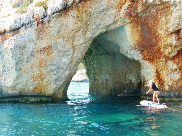 Blue Cave Zakynthos stand up paddle