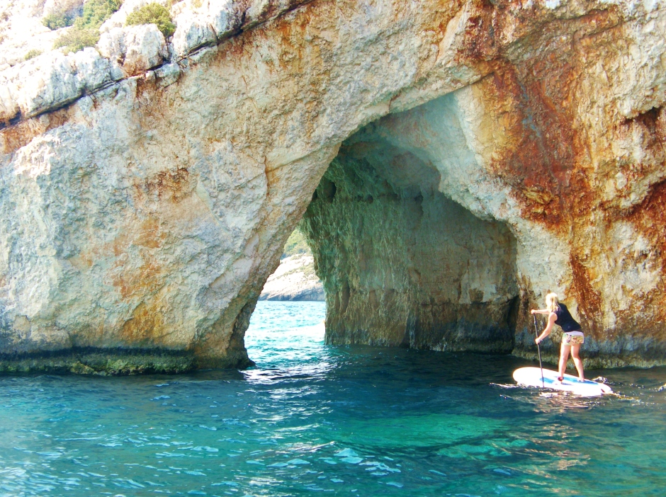 Blue Cave Zakynthos stand up paddle