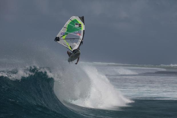 Bernd Roediger windsurfing aerial Marshall Islands Bernd Roediger