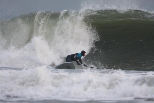 Chris Guts Griffiths big wave SUP