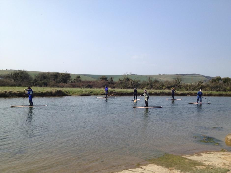 Neptune SUPs paddling Seven Sisters