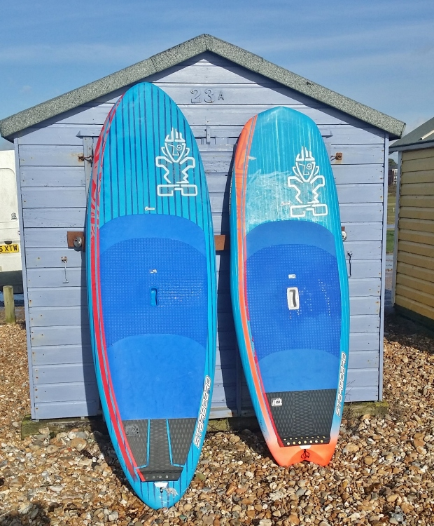 Starboard Pocket Rocket 8.5ft and Hyper Nut 7.4ft comparison test