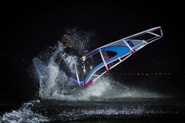 Hayling Island night windsurf action NWF