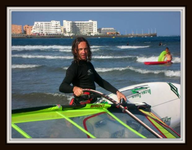 Marc Hambidge windsurfing