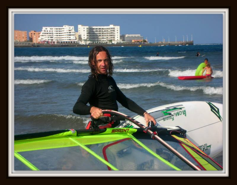 Marc Hambidge windsurfing