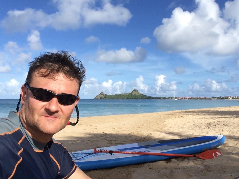 Simon Hatfield, St Lucia SUP