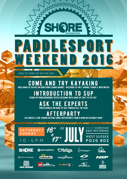 Paddle Sport Weekend flyer