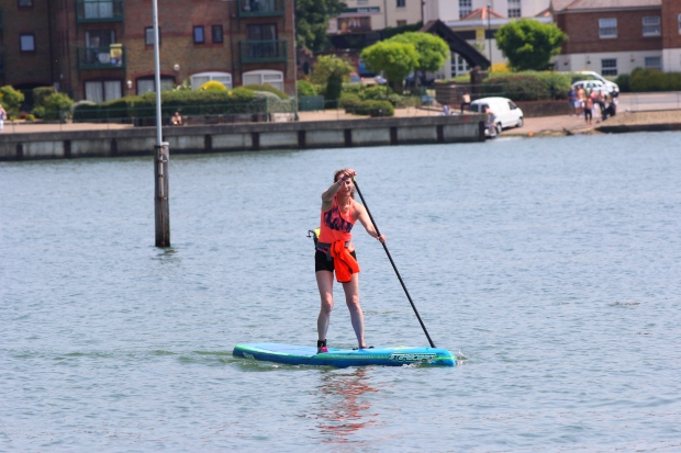 Racing at SUP For Cancer