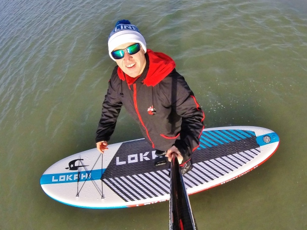 Lokahi Mares inflatable SUP on the water