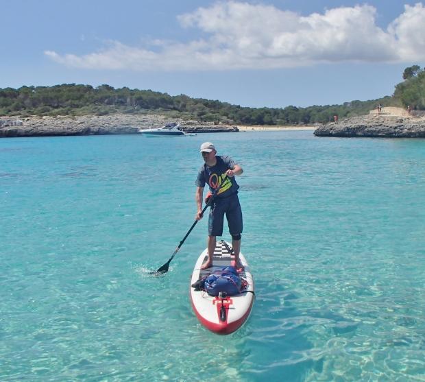 Dean Dunbar sightless SUP in Mallorca