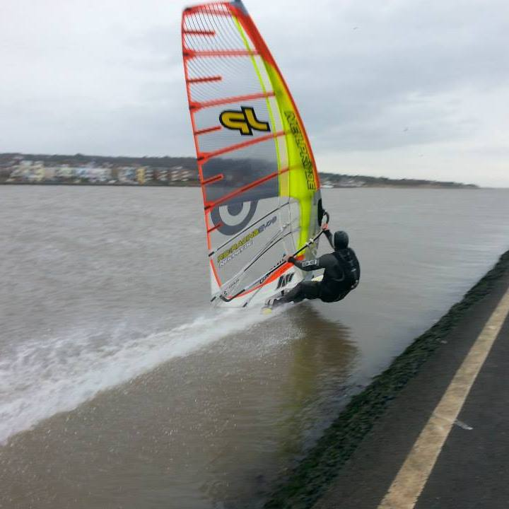 Ant Todd West Kirby speed windsurfing