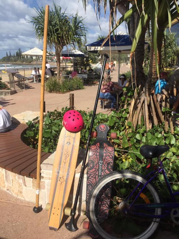 Yenny's land paddling set up