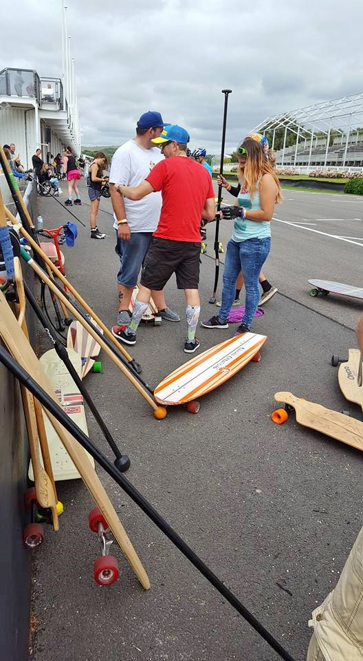 Land paddle melee at South Coast Roll Summer 2016