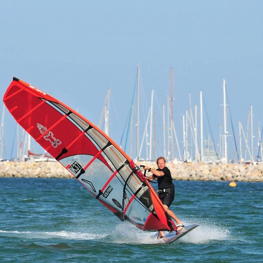 Ant Todd slalom windsurfing Weymouth