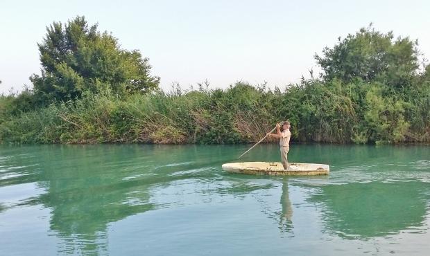 Greek fisherman SUP