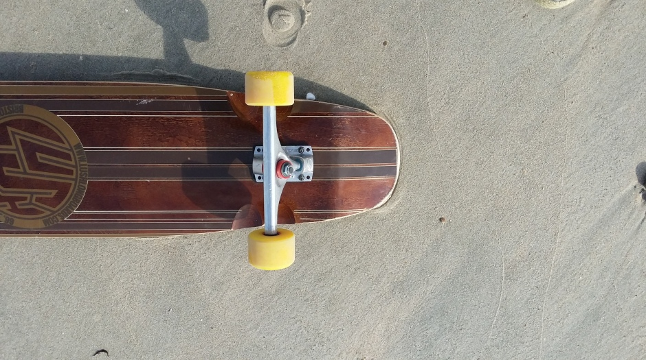 Lush Longboards X-Flex trucks close up