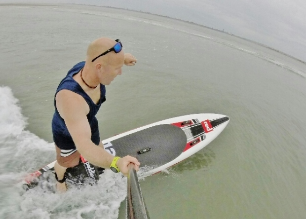 Red Paddle Elite 12.6ft water shot