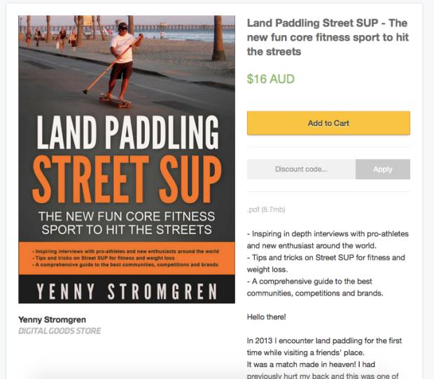 Land Paddling book Yenny Stromgren