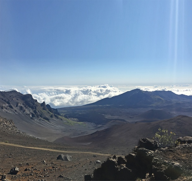 JHV hiking Mount Haleakala