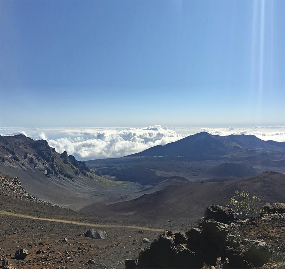 JHV hiking Mount Haleakala