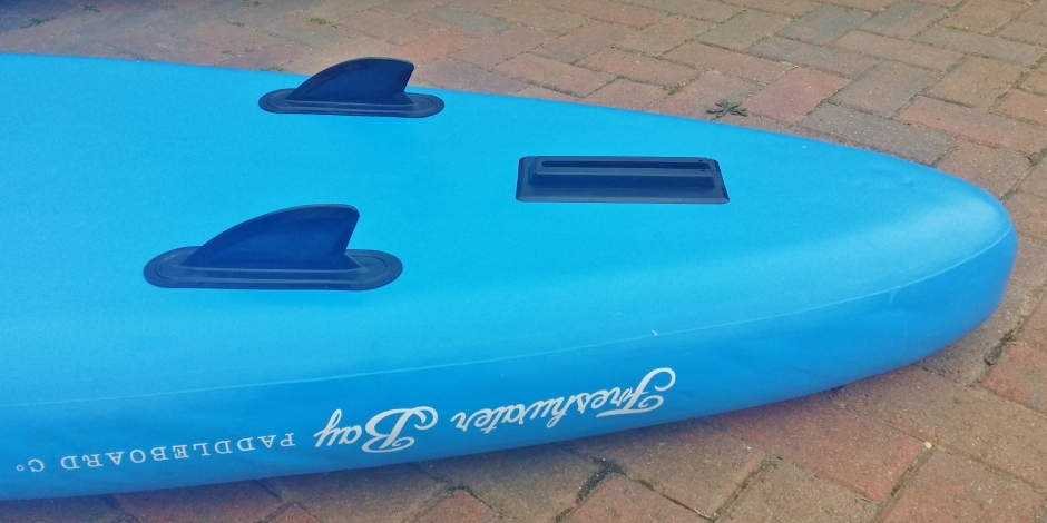 Freshwater Bay Paddleboard Co inflatable fin configuration