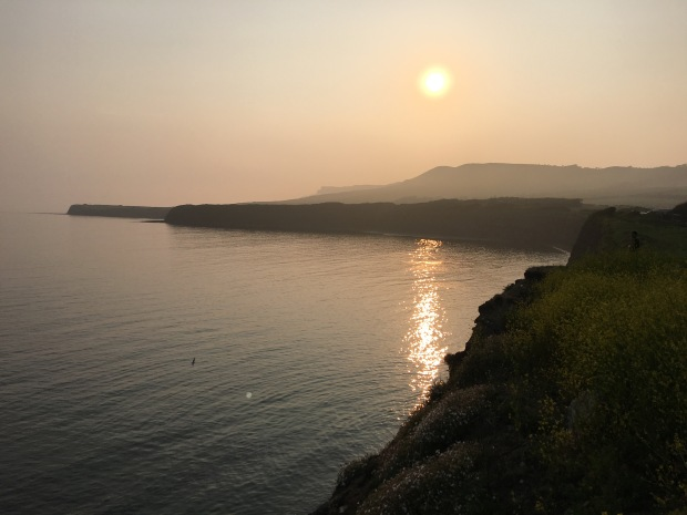 Jurassic Coast sunset