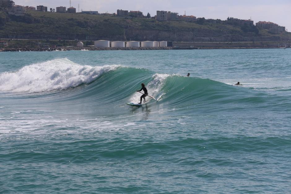Lebanon SUP surfing with Sarah Hebert