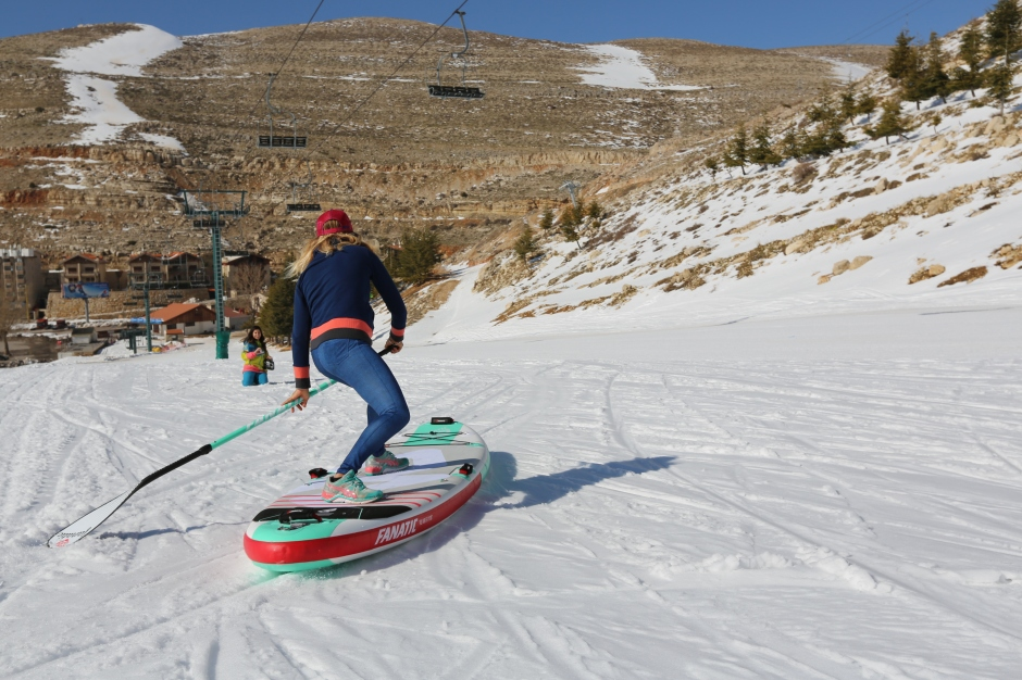 Lebanon snow SUP