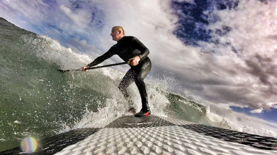 Steve Williams stand up paddle surfing