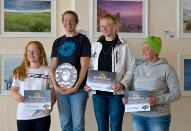 Weymouth Speed Week 2016 women's podium