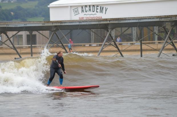 reuben May at Surf Snowdonia