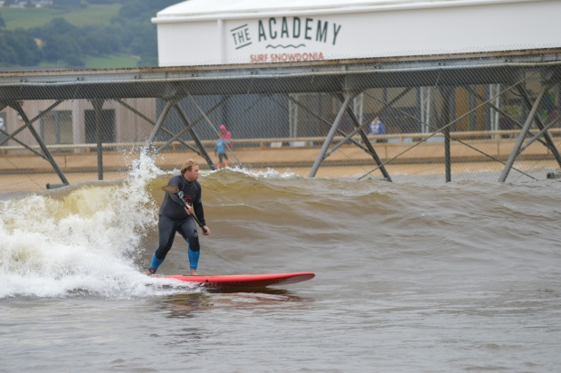 reuben May at Surf Snowdonia