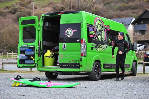 The NWF Green Machine van