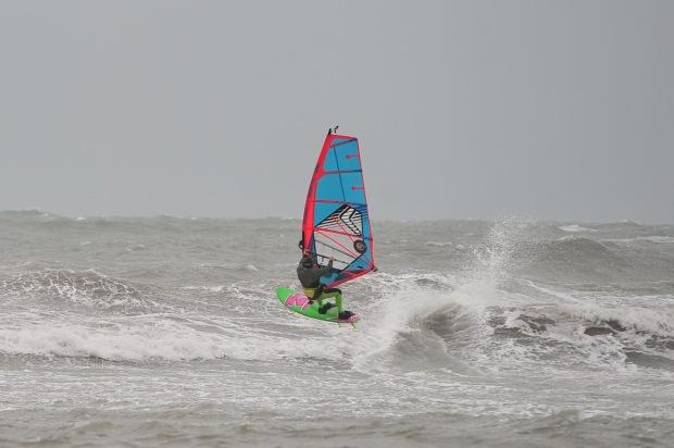 Allan Cross mixing it up in waves